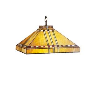 Meyda Tiffany Mission Arts and Crafts Stickley Prairie Corn 4-Light Pool Table Light
