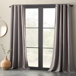 Nolan Linen Blend Solid Max Blackout Grommet Single Curtain Panel by Eider & Ivory