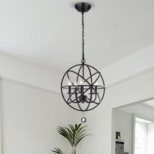 Darby Home Co Albano Foyer 5-Light Globe Chandelier