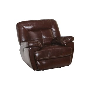 Doegolia Leather Power Glider Recliner by Red Barrel Studio