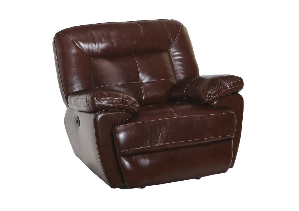 Doegolia Leather Power Glider Recliner By Red Barrel