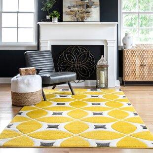 Modern Black Yellow Gold Area Rugs Allmodern