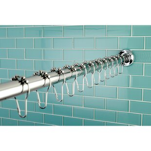 Edenscape 72 Adjustable Straight Shower Curtain Rod By Kingston Brass