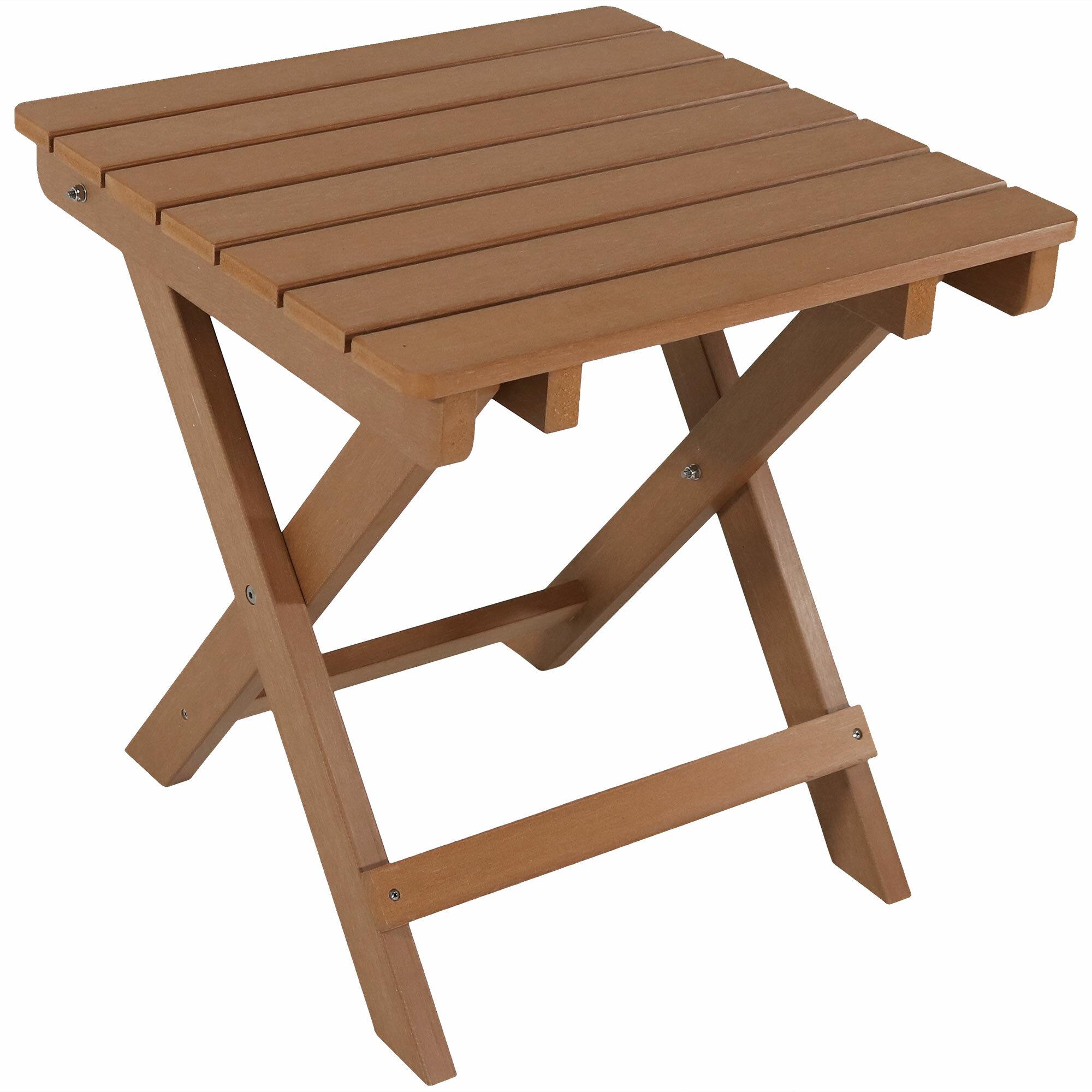 Mattias Folding Plastic Side Table