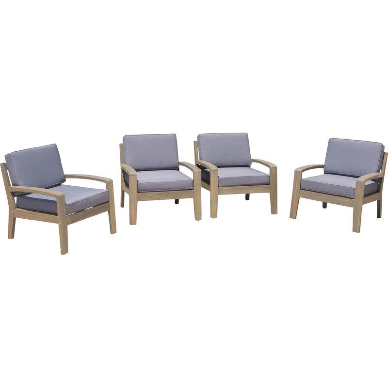 Gaia Wood Frame Armchair With Cushions