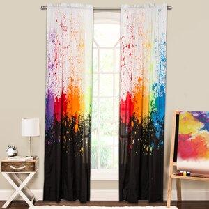Crayola Cosmic Burst Single Curtain Panel