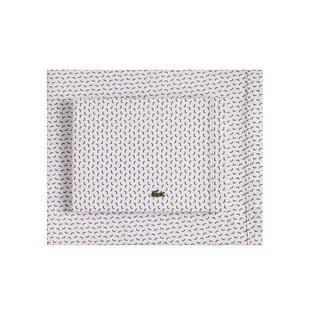 Plum Boomerang Percale Printed 100% Cotton Sheet Set