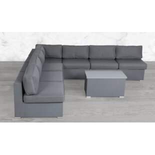 Frizzell Modular 7 Piece Sectional Seating Group with Cushions