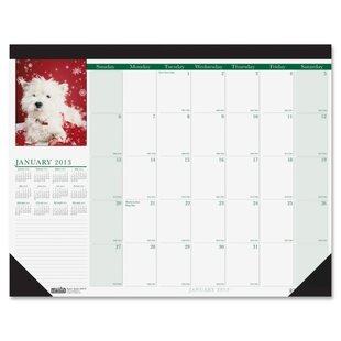 Compare prices Puppies Desk Pad Calendar by House of Doolittle