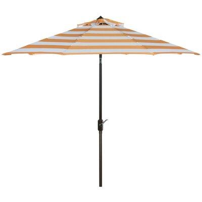Breakwater Bay 9' Market Umbrella Fabric Color: Orange/White