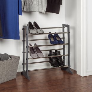 Best Reviews Expandable 4 Tier Space Saving Tower Organizer 24 Pair Stackable Shoe Rack By Rebrilliant