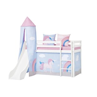 Basic Mid Sleeper Bed With Textil Set By Hoppekids