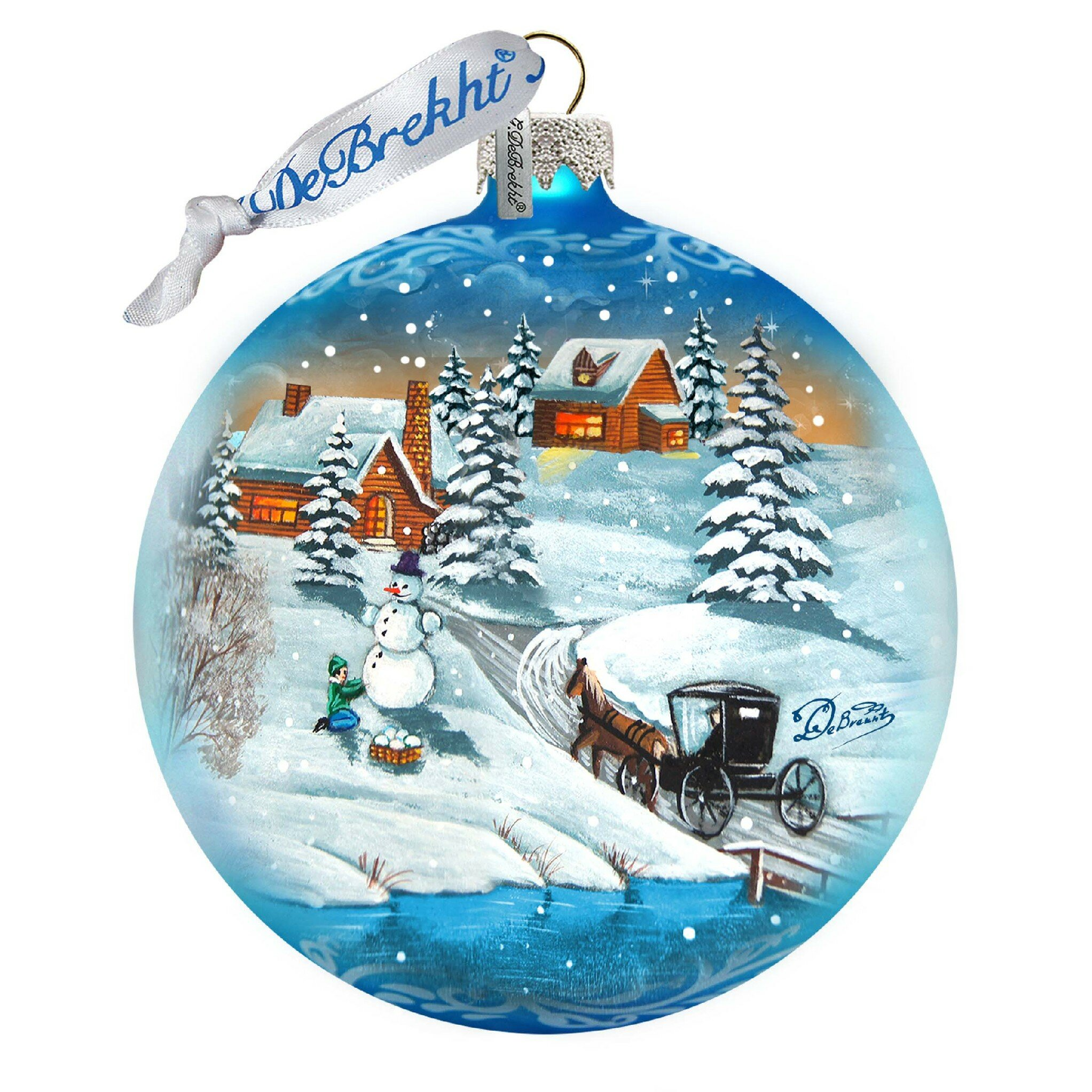 Designocracy Vintage Winter Village Ball Ornament Wayfair
