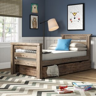 Elise Twin Slat Bed with Trundle by Grovelane Teen