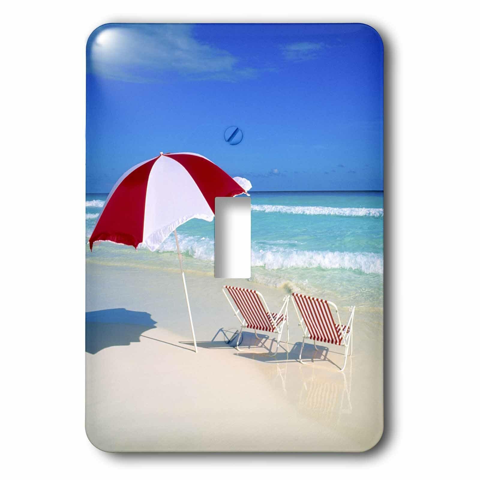 3drose Caribbean Escape Tropical Beach Scene 1 Gang Toggle Light Switch Wall Plate Wayfair