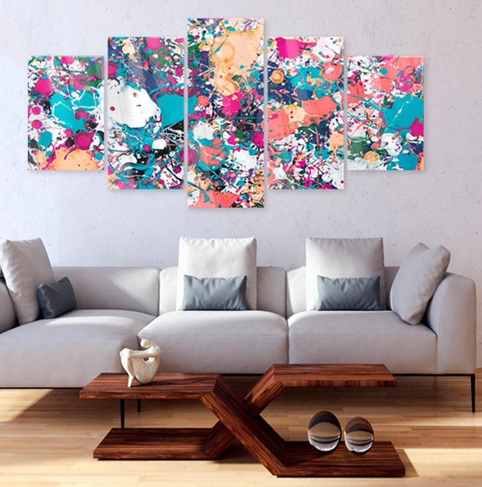 20-tlg. Glasbilder-Set Lake of Colours