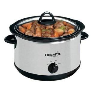 5 Qt. Smudgeproof Round Manual Slow Cooker Silver