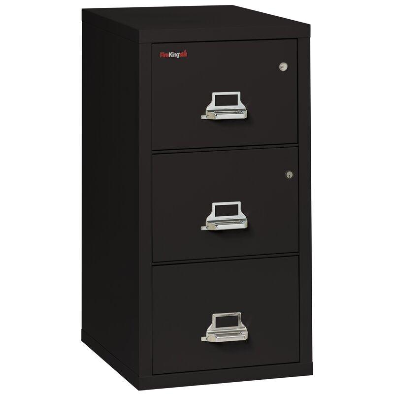 Legal Safe-In-A-File Fireproof 2-Drawer Vertical File Cabinet  sc 1 st  Wayfair & FireKing Legal Safe-In-A-File Fireproof 2-Drawer Vertical File ...