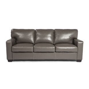 Hillcrest Leather Sofa by Union Rustic