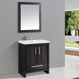 Peiffer 30 Single Sink Bathroom Vanity Set with Mirror by Orren Ellis