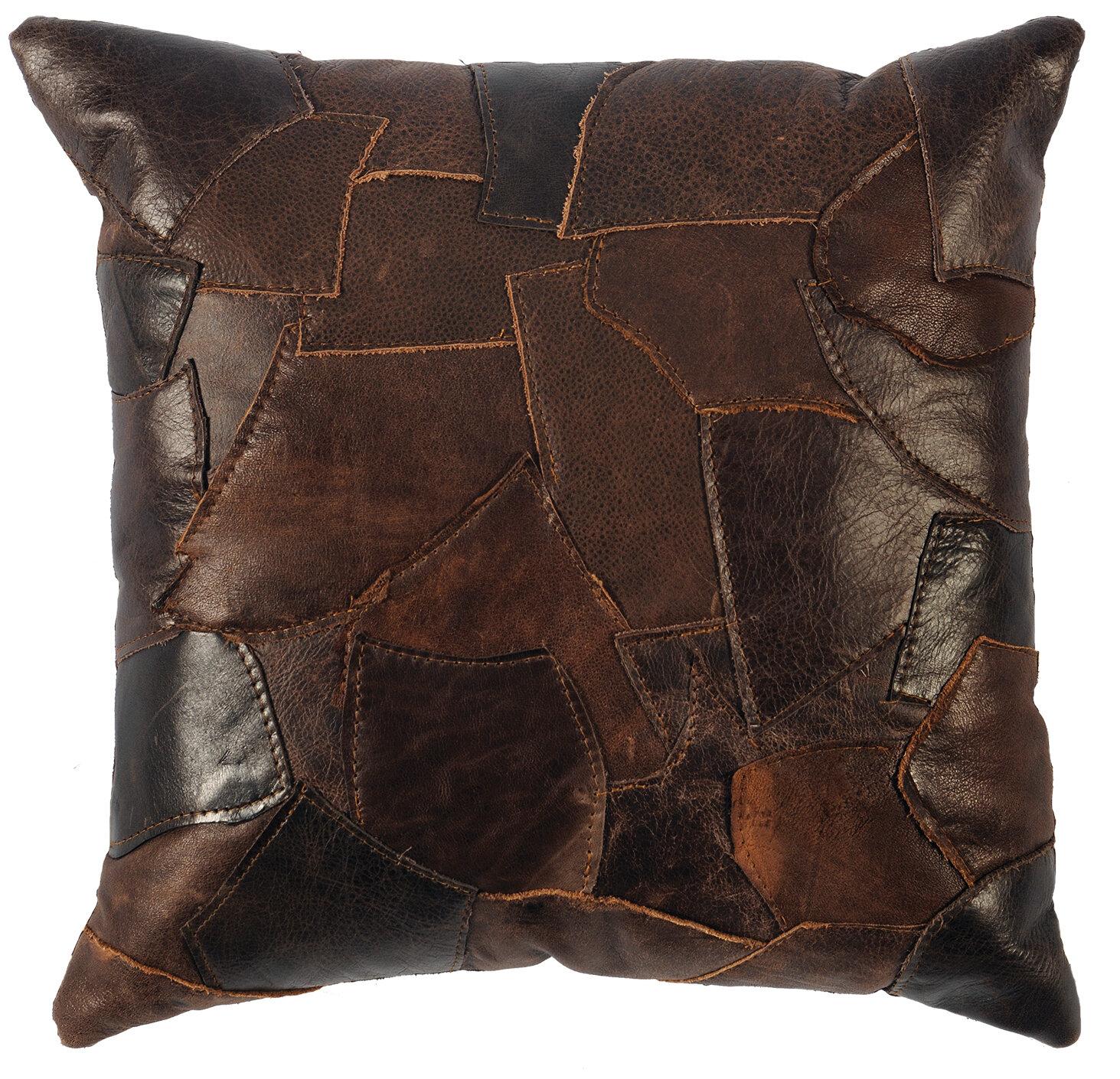 World Menagerie Oyalowo Leather Throw Pillow Reviews Wayfair