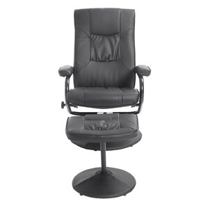 leather recliner and ottoman set - Black Leather Recliner