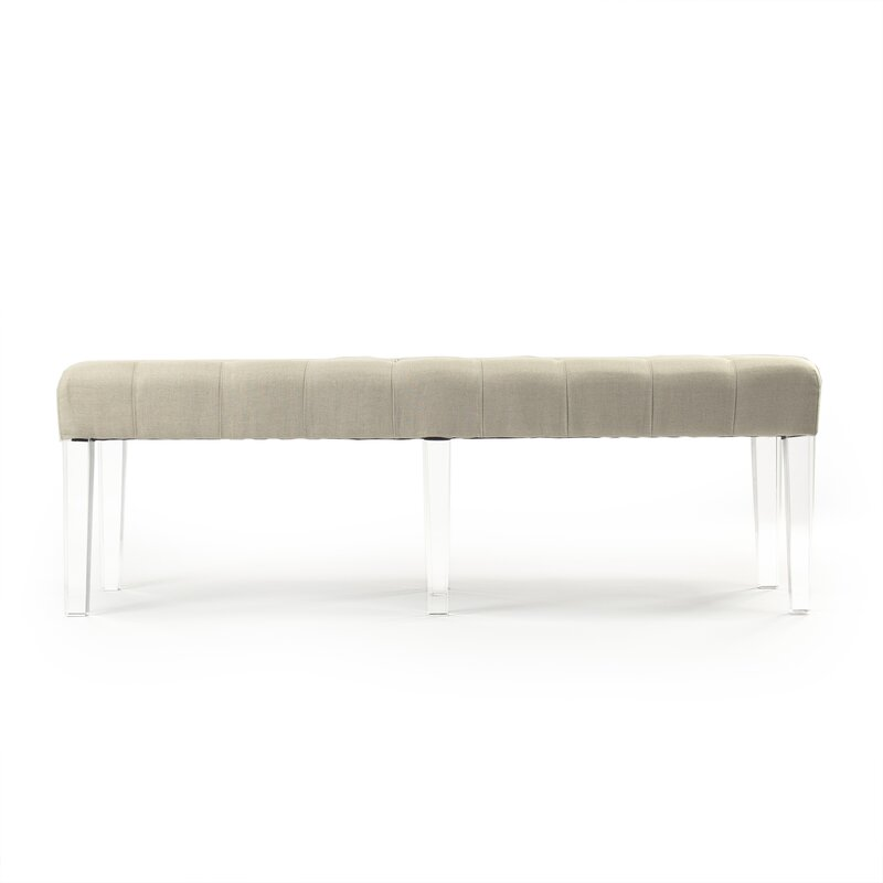 Zentique Meline Upholstered Bench Wayfair