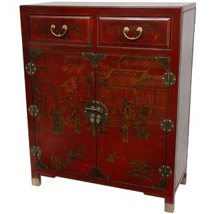 Reviews Lacquer 2 Drawer Accent Cabinet By Oriental Furniture