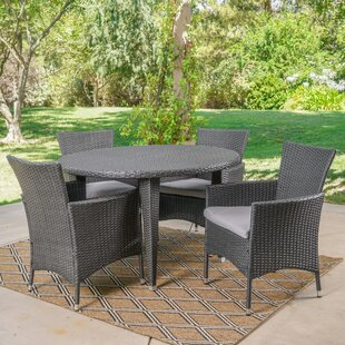 Ivy Bronx Dionisio 5 Piece Dining Set with Cushions