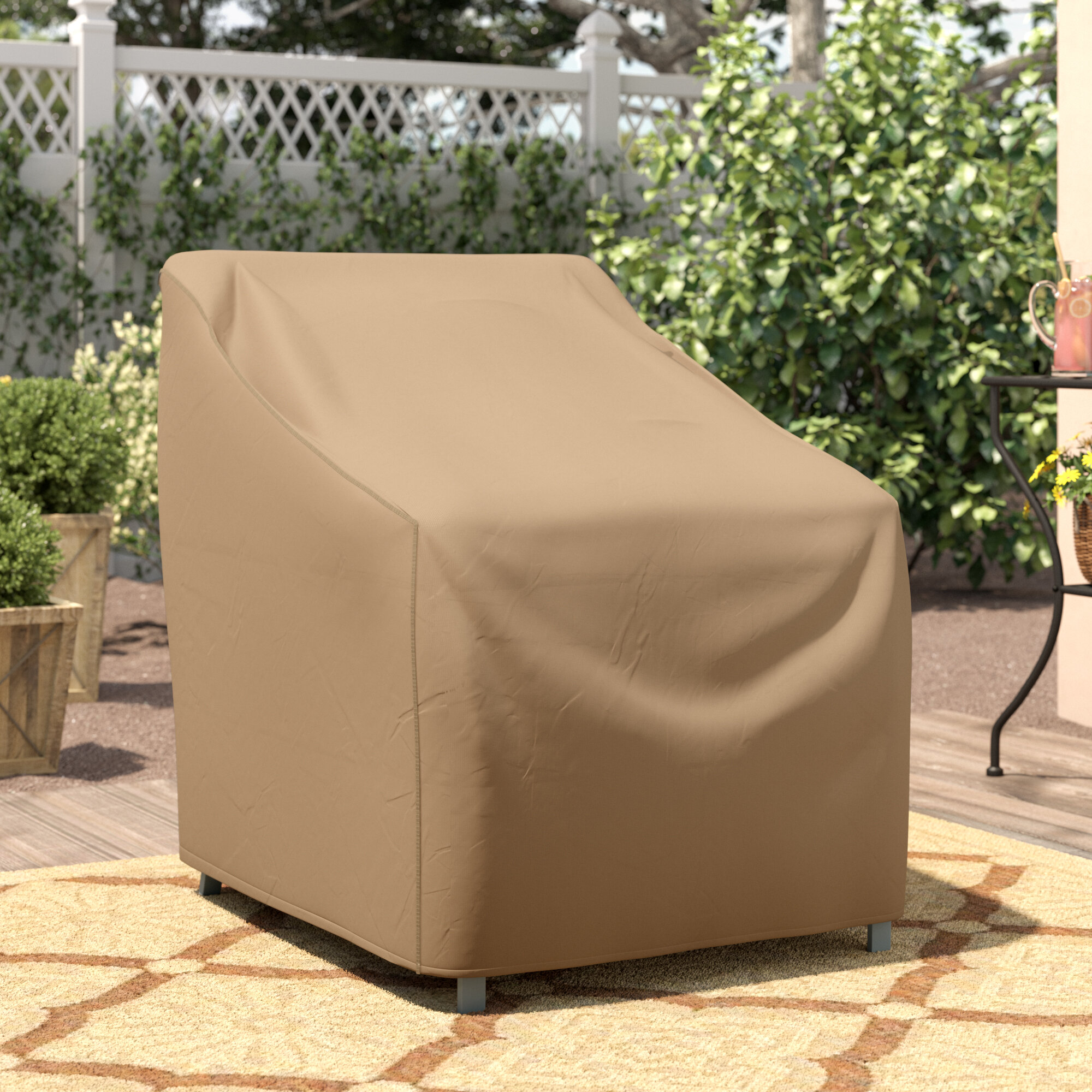 Wayfair Basics Water Resistant Patio Chair Cover Reviews Wayfair