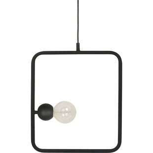 Hensley Ceiling Fixture 1-Light Rectangle Pendant by Wrought Studio