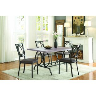Mcnett 5 Piece Dining Set Williston Forge