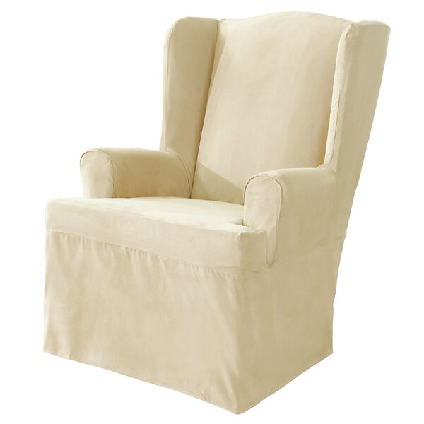 Sure Fit Soft Suede TCushion Wingback Slipcover Reviews Wayfair