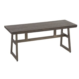 Platane Metal/Wood Bench by Gracie Oaks