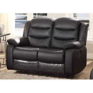 Bennett Leather Reclining Loveseat by AC Pacific Great Reviews