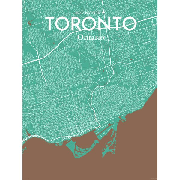 Ourposter toronto city map graphic art print poster in nature ourposter toronto city map graphic art print poster in nature wayfair gumiabroncs Choice Image