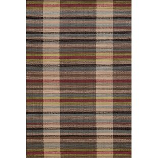 Swedish Rag Handwoven Cherry Brown Indoor/Outdoor Area Rug