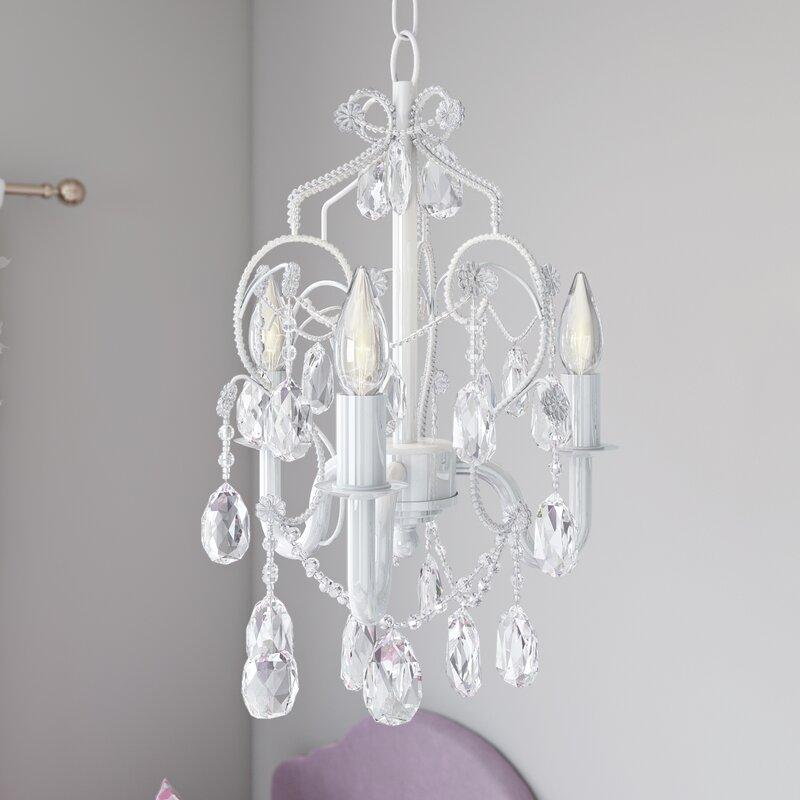 Viv rae caden 3 light crystal chandelier reviews wayfair caden 3 light crystal chandelier aloadofball Images