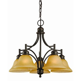 Bristol 5-Light Shaded Chandelier by Design House
