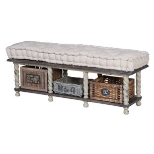 August Grove Elsenborn Wood Storage Bench
