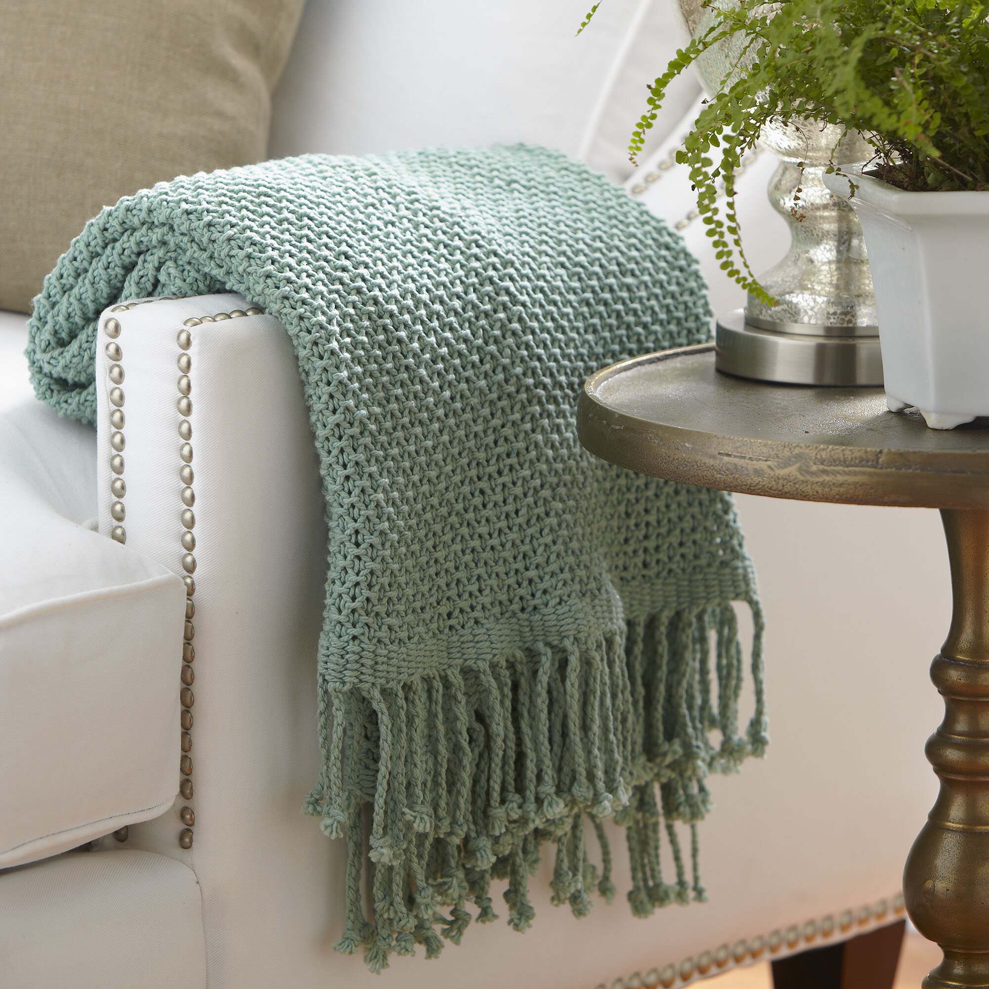 Popular Beachcrest Home Buckhead Ridge Cotton Throw Blanket & Reviews  LD64
