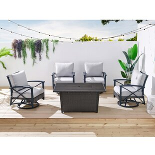 Bentley 5 Piece Multiple Chairs Seating Group with Cushions