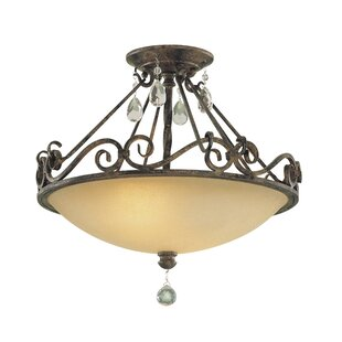 Esse 2-Light Semi Flush Mount by House of Hampton