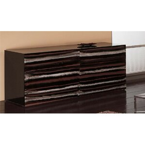 Contempo Acrylic 6 Drawer Double Dresser by Shahrooz