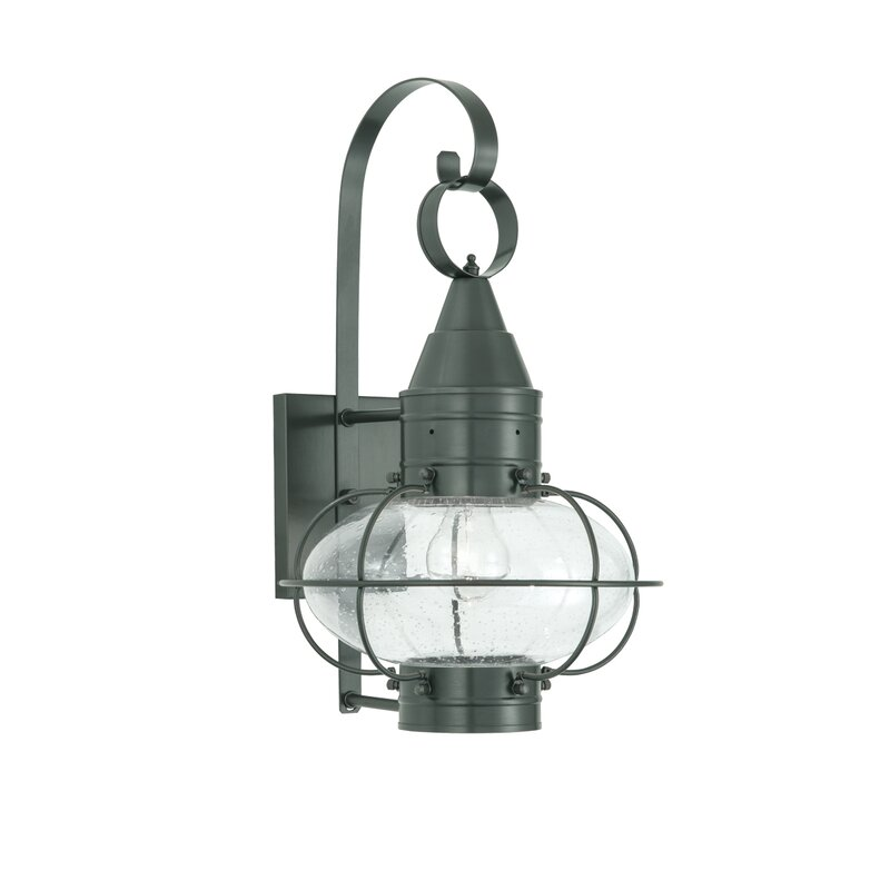 Breakwater Bay Withyditch 1 Light Glass Shade Outdoor Wall Lantern