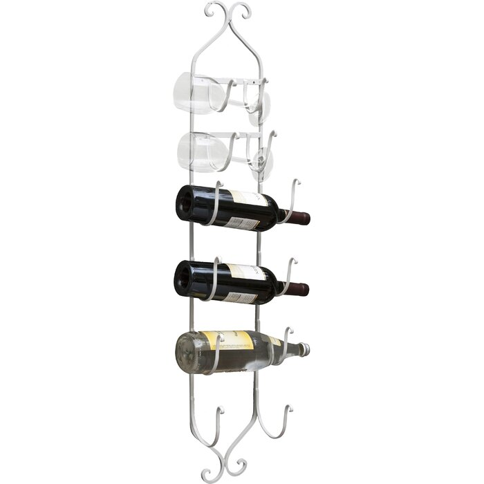 Mossley 6 Bottle Wall Mounted Wine Rack