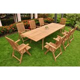Devonte Luxurious 9 Piece Teak Dining Set