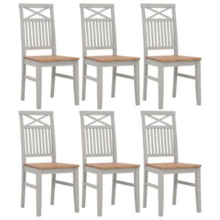 Review Landrienne Solid Wood Dining Chair (Set Of 6)