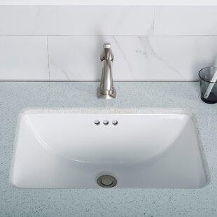 Shop For Elavo Ceramic Rectangular Undermount Bathroom Sink with Overflow ByKraus