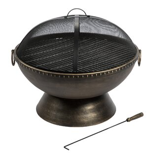 Alica Steel Wood Burning Gas Fire Pit Image
